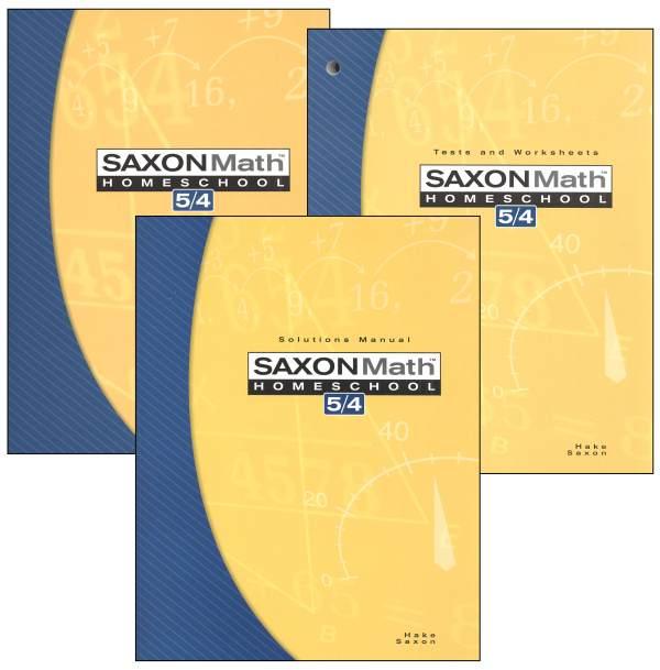 Saxon Math 5 4 3ed Homeschool Kit (024422) Details