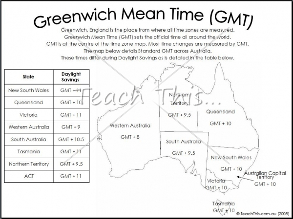 Maths Worksheets On Australian Time Zones  Counting Number