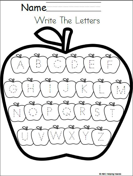 Editable Letter Writing Worksheet Apples Theme