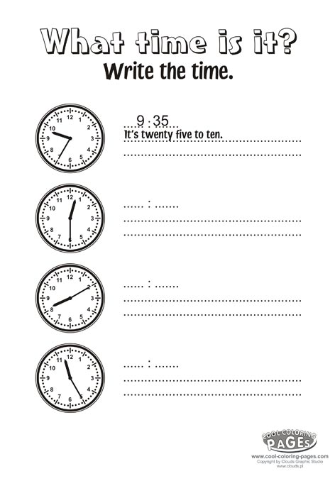 What Time Is It Exercises