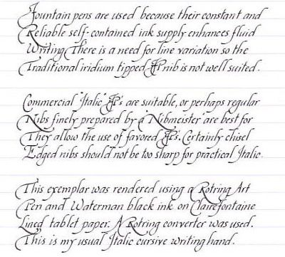Old English Cursive Lettering