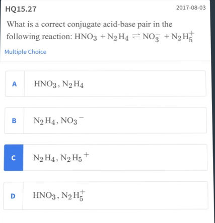 What Is The Correct Conjugate Acid