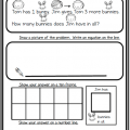 Problem Solving For Kindergarten Worksheets