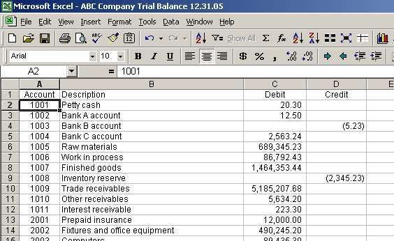 Download Trial Balance Excel Template Sample