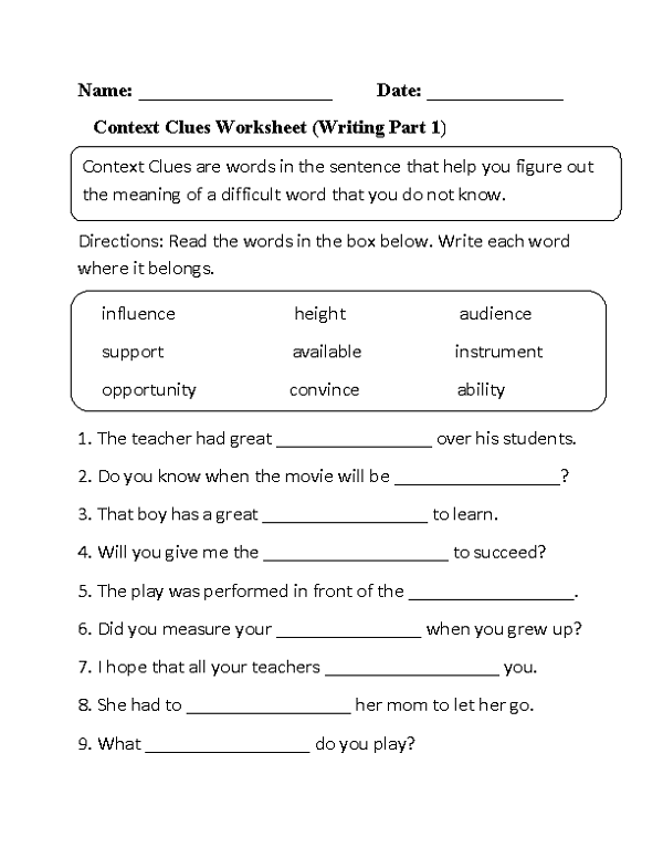 Pin On English Worksheets