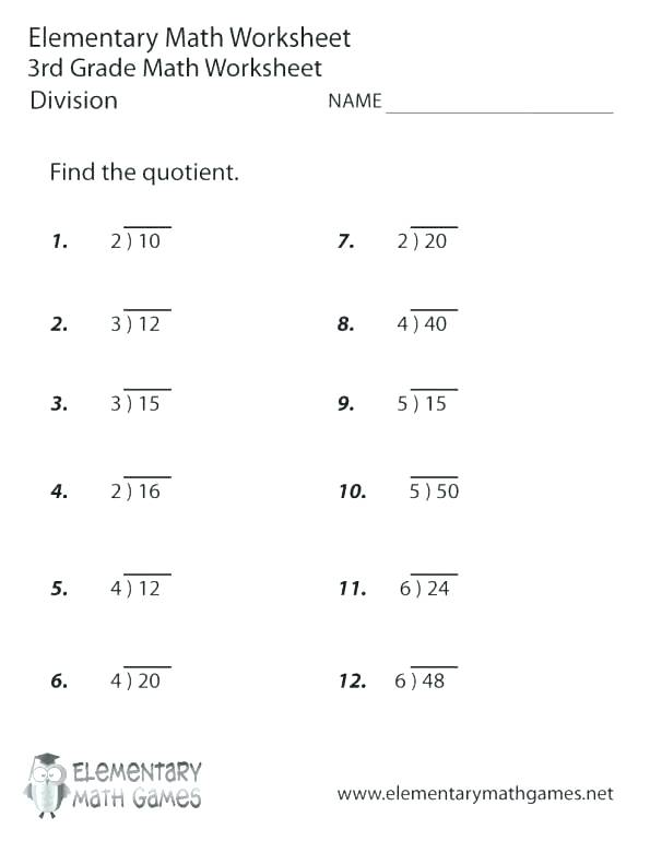 6th Grade Division Worksheets One Step Addition Equations Word