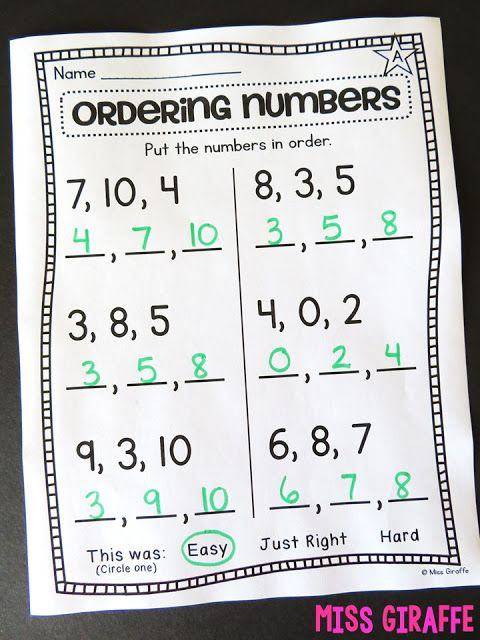 Ordering Numbers To 10 Worksheet And So Many Other Great Number