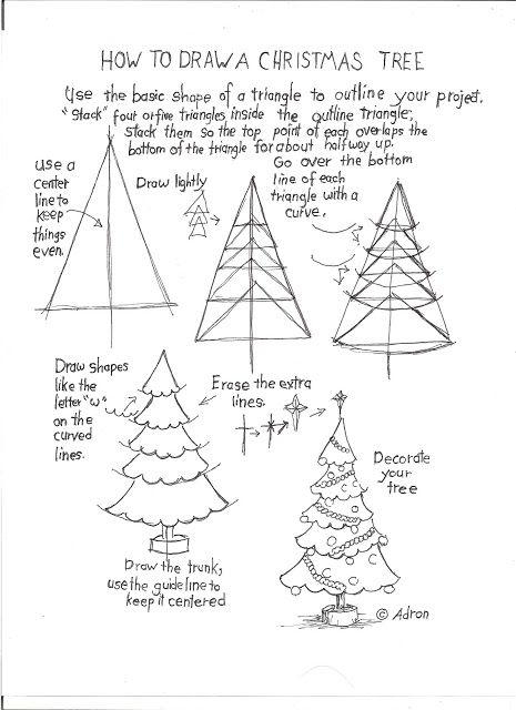 Christmas Tree How To Draw Worksheets For The Young Artist