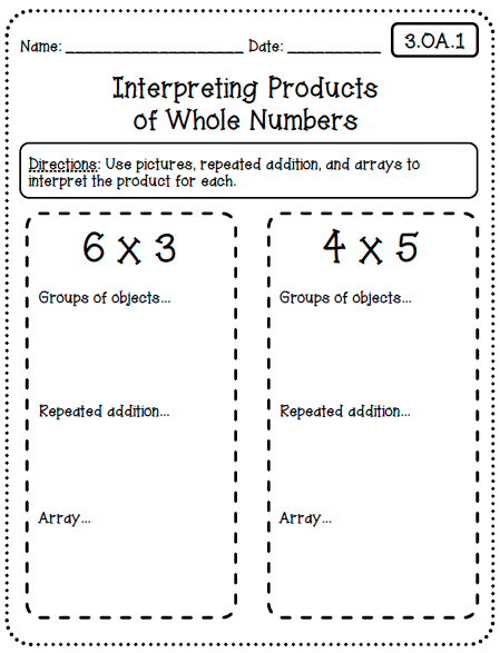 Common Core Worksheets (3rd Grade Edition