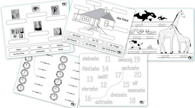 Free German Printable Worksheets
