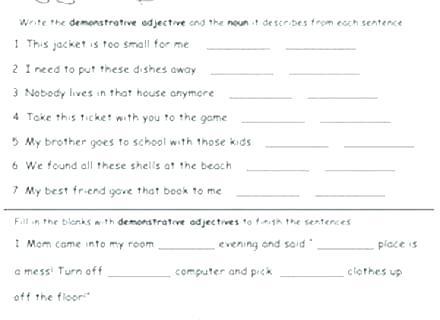 Adjectives Worksheets Adjectives Worksheets For Grade 4
