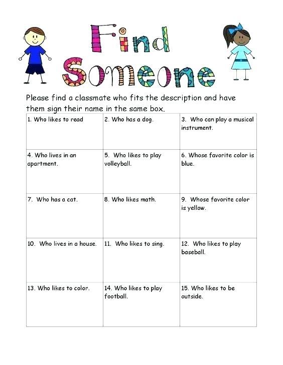 Middle School Icebreakers Worksheets – Readio Info