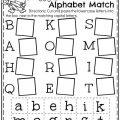 Letters For Kindergarten Worksheets