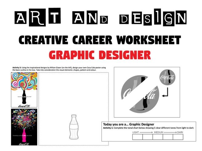 Graphic Designer Worksheet   Cover Lesson   Homework