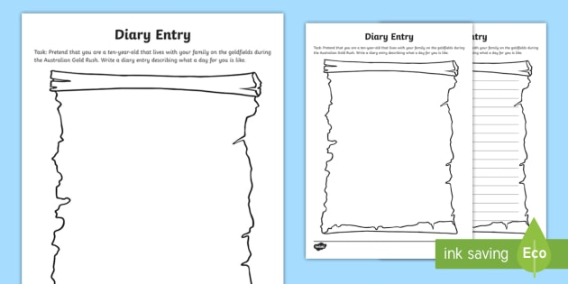 Diary Entry Worksheet   Worksheet