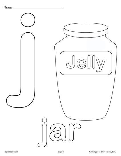 Letter J Alphabet Coloring Pages