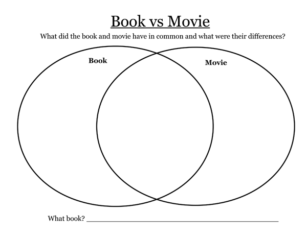 Book Vs  Movie {printable}