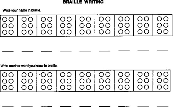 10 Best Photos Of Braille Worksheets Printables