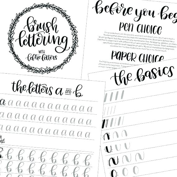 Calligraphy For Kids Worksheets – Baysidebaby Co