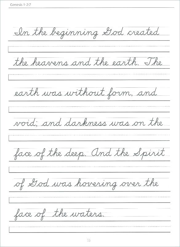 Calligraphy Writing Practice Worksheets