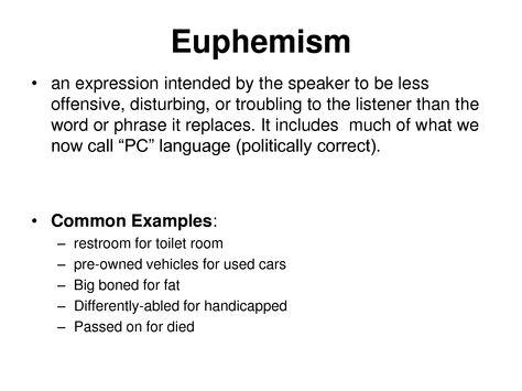 Euphemism Examples