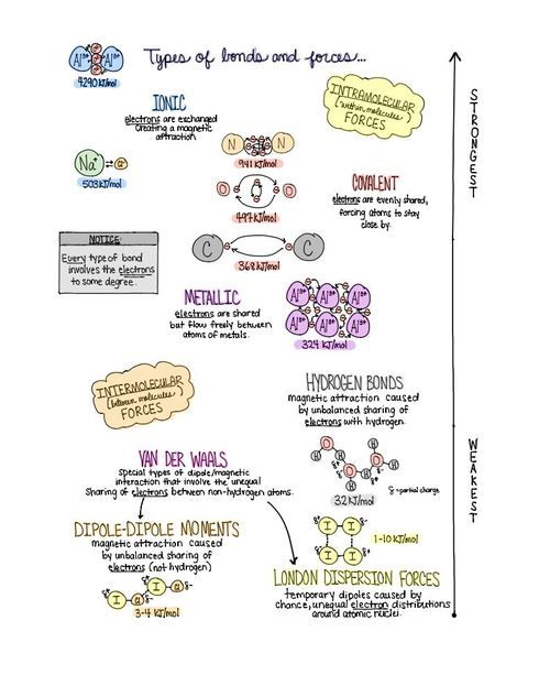 Sketchnote Of 10 Essential  Chemistry Concepts For Visual Learners