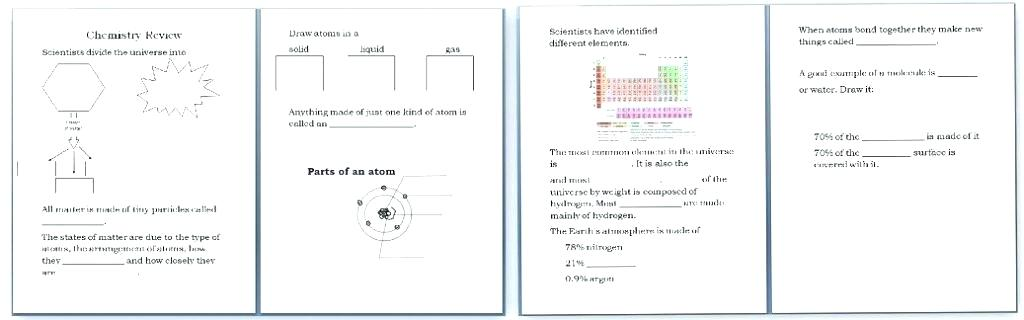 Chemistry Worksheets For Kids Worksheets For Design And Technology