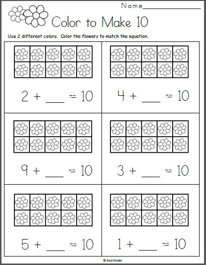 Free Math Worksheet For Kindergarten Addition
