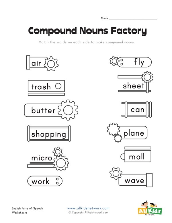 Compound Nouns Factory Worksheet 1