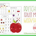 Fruit Math Worksheets