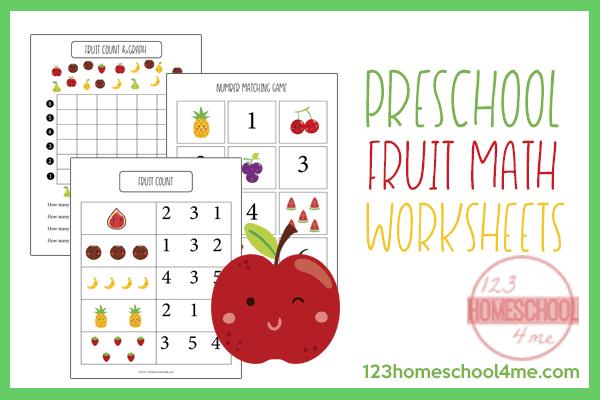 Free Preschool Fruit Math Skills