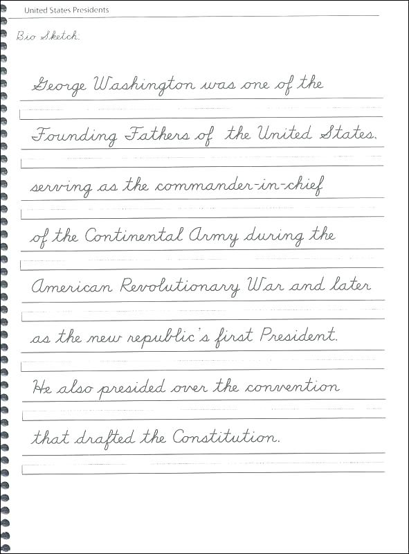 Cursive Handwriting Worksheets For Third Grade