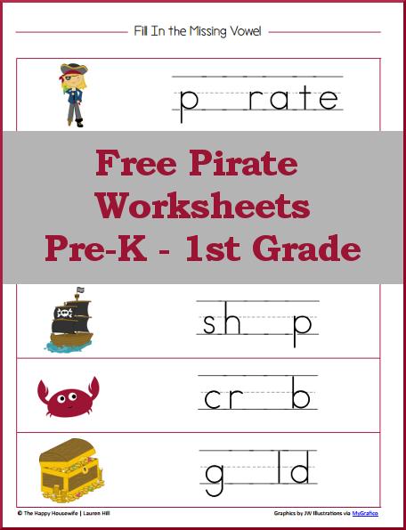 Pirate Worksheets  Free Printables