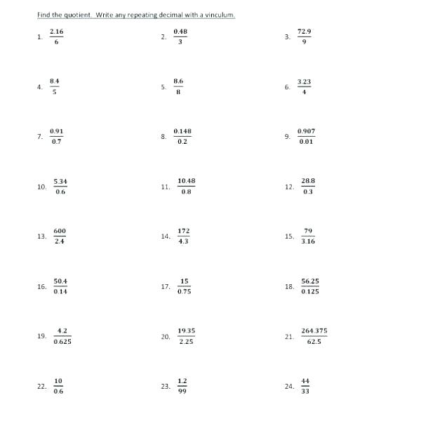 Division Worksheets For 6th Grade – Dzulfikar Com