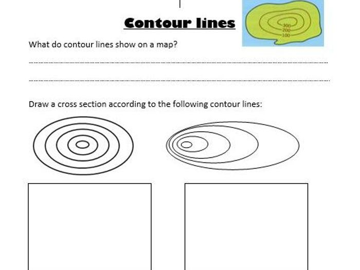 Drawing Contour Lines Worksheet At Paintingvalley Com