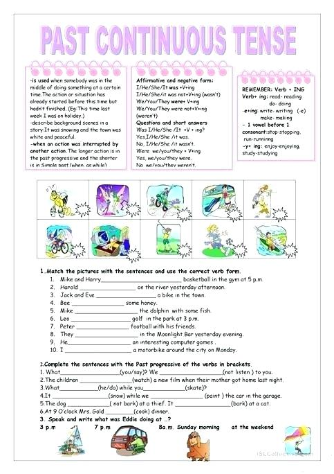 Esl Present Simple Worksheets Printable Perfect And Continuous