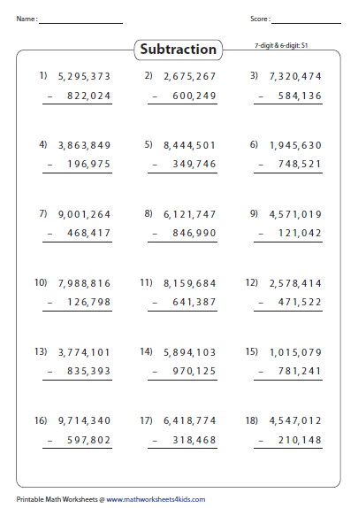 Large Numbers  6