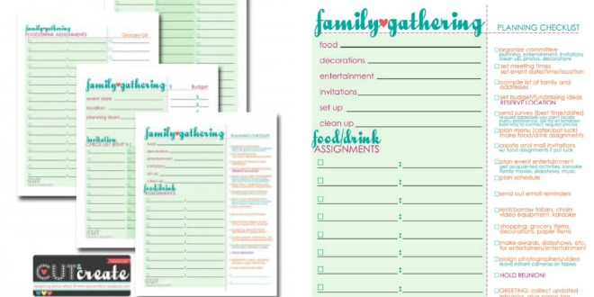 Plan A Family Reunion! {free Worksheets} – Tip Junkie