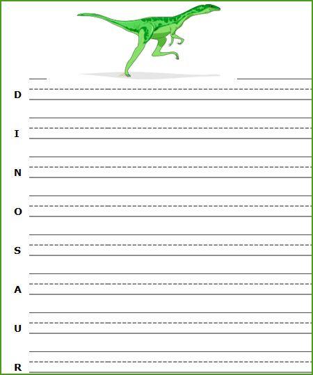 Free Printable Dinosaur Worksheets, Dinosaurs Writing Worksheets