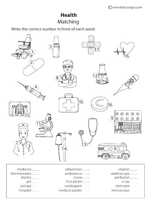 First Aid Worksheets Printable Printable First Aid Worksheets For
