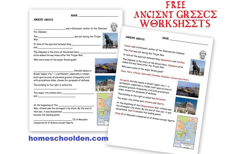 Ancient Greece, Ancient Rome Worksheets And Activities