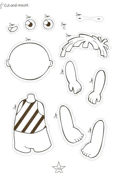 Free Printable Body Parts Worksheets For Kindergarten