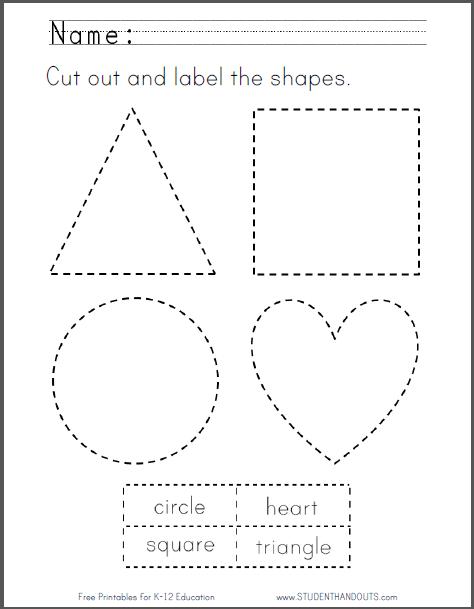 Free Printable Cutting Worksheets Kindergarten