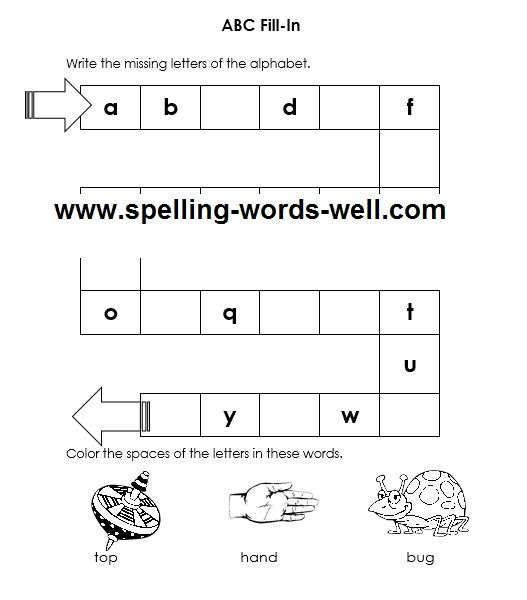 Free Printable Kindergarten Worksheets With The Abcs With Regard