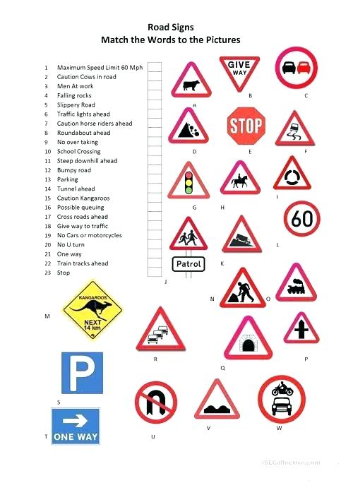 Traffic Sign Bingo Printable – Andbeyondshop Co