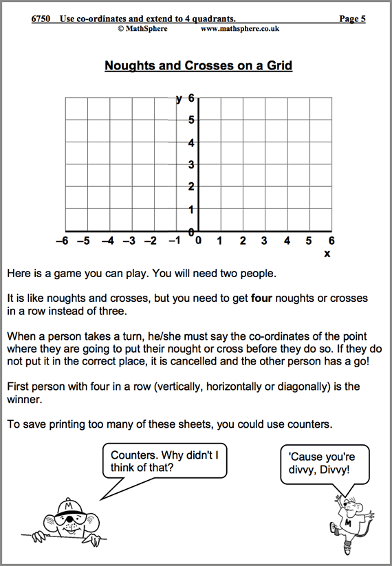 Fun Math Worksheets For Year 6
