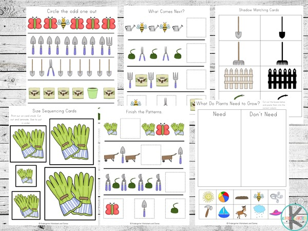 Free Garden Printable Pack – Kindergarten Worksheets And Games