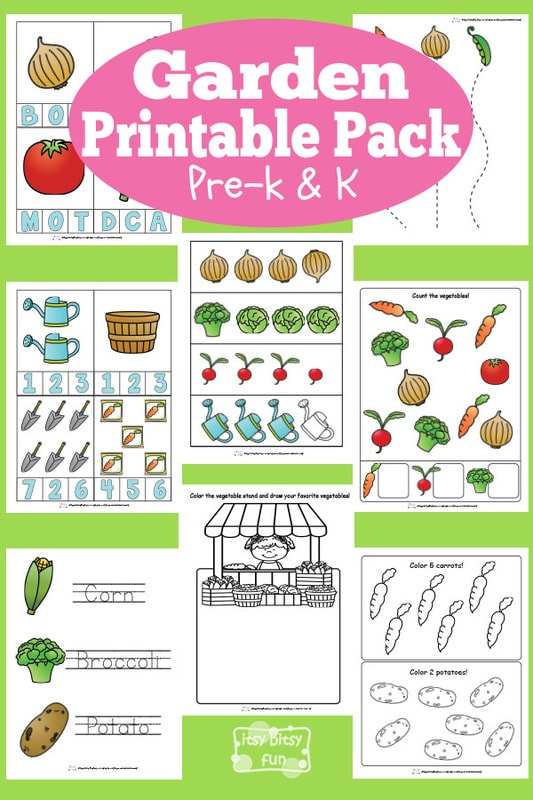 Garden Printable Preschool And Kindergarten Pack