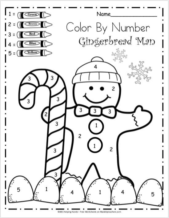 Free Kindergarten Math Worksheets For Winter