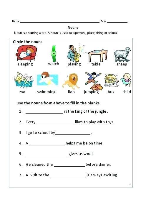Grammar Worksheets Free Basic Noun Easy Plural Compound Nouns